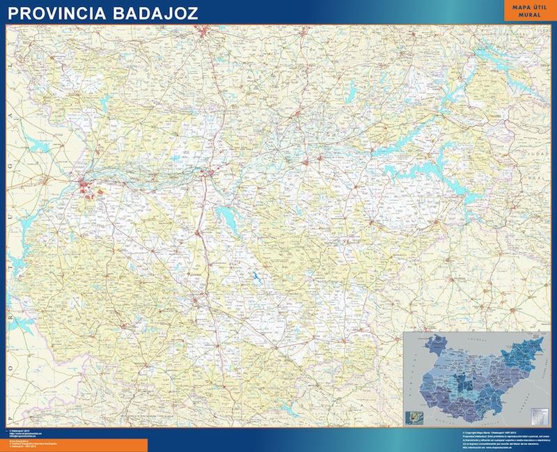 mapa grande provincia badajoz