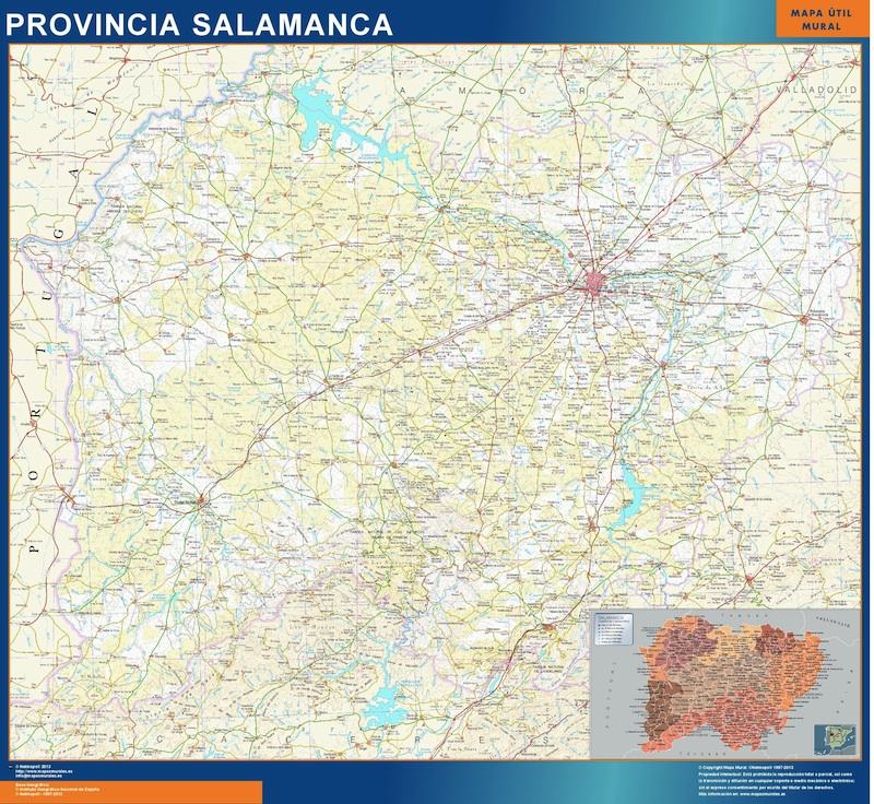 mapa grande provincia salamanca