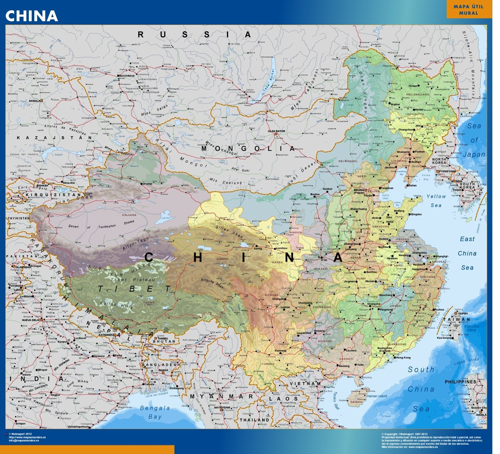 mapa china grande