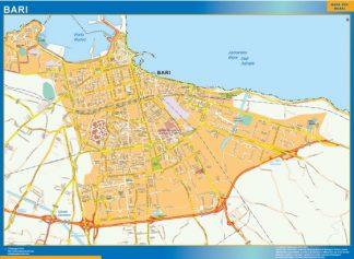 Mapa Bari enmarcado plastificado