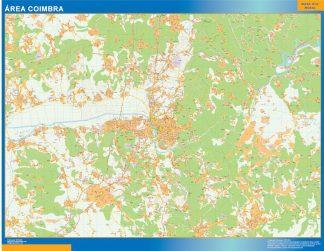 Mapa Coimbra área urbana enmarcado plastificado
