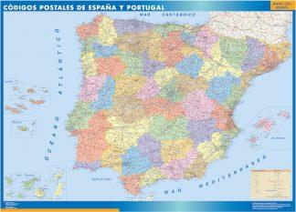 Mapa Espana Codigos Postales enmarcado plastificado