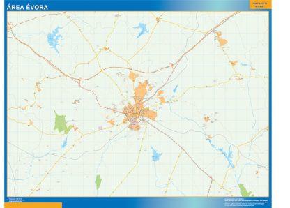 Mapa Evora área urbana enmarcado plastificado