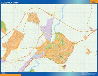 Mapa Guadalajara callejero enmarcado plastificado