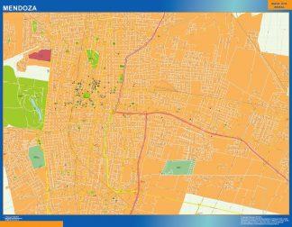 Mapa Mendoza en Argentina enmarcado plastificado