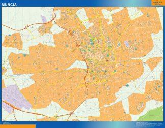 Mapa Murcia callejero enmarcado plastificado