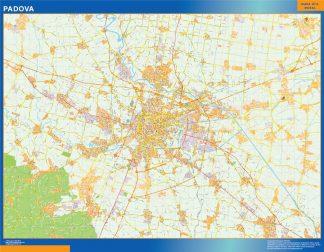 Mapa Padova enmarcado plastificado
