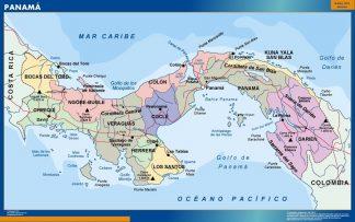 Mapa Panama enmarcado plastificado