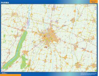 Mapa Parma enmarcado plastificado