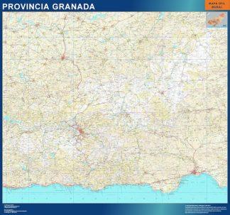 Mapa Provincia Granada enmarcado plastificado