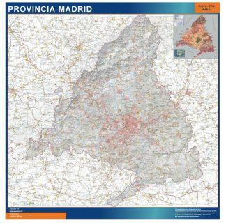 Mapa Provincia Madrid enmarcado plastificado