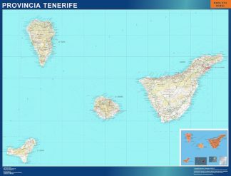 Mapa Provincia Tenerife enmarcado plastificado