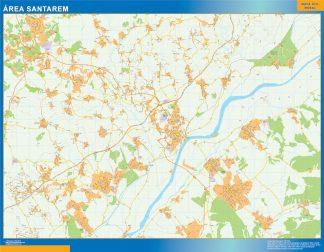 Mapa Santarem área urbana enmarcado plastificado