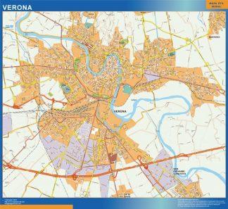 Mapa Verona enmarcado plastificado