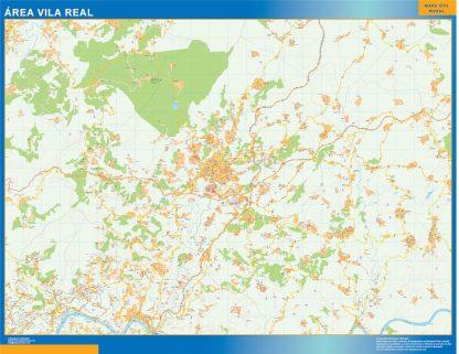 Mapa Vila Real área urbana enmarcado plastificado