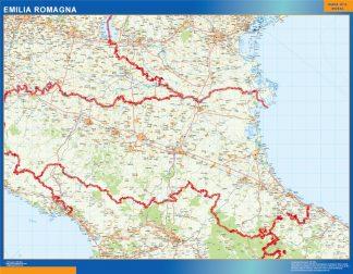 Mapa región Emilia Romagna enmarcado plastificado