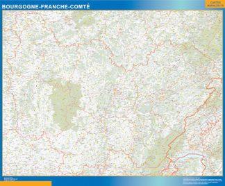 Region Bourgogne Franche Comte enmarcado plastificado