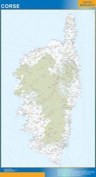 Region Corse enmarcado plastificado