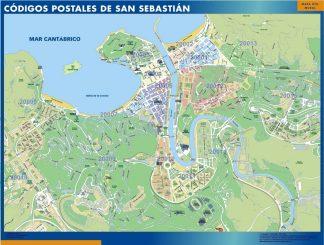San Sebastian códigos postales enmarcado plastificado