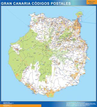 isla Gran Canaria códigos postales enmarcado plastificado